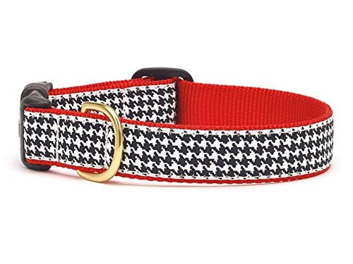 Houndstooth Collar (Up Country Houndstooth Dog Collar - Extra Large (Wide))