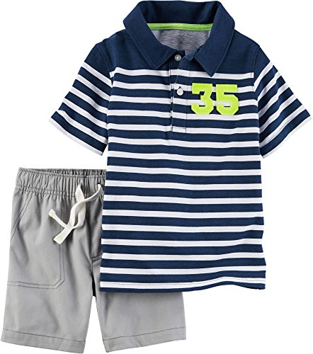 Carter's Baby Boys' 2-Piece Shirt And Short Set 9 Months (Viking Clothes For Sale)