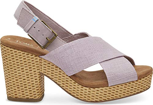 TOMS Women's Ibiza Burnished Lilac Heritage Canvas/Suede 7 B US