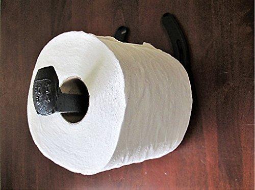 Railroad Spike Toilet Paper Holder. Horseshoe Toilet Paper Holder
