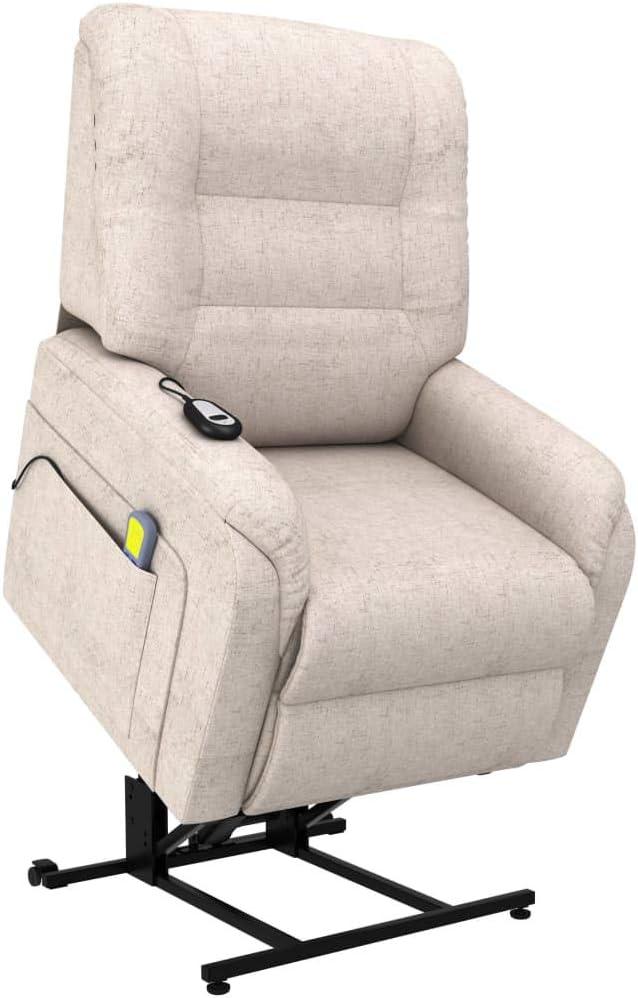 vidaXL Fauteuil de Massage Inclinable Fauteuil de Relaxation Electrique Salon Salle de S/éjour Maison Int/érieur Inclinaison Chauffage Rouge Similicuir