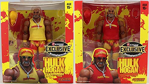Ringside Package Deal Red & Yellow Hulkamania Hulk Hogan Collectibles Exclusive Storm Collectibles Toy Wrestling Action (Collectible Wrestling Figure)
