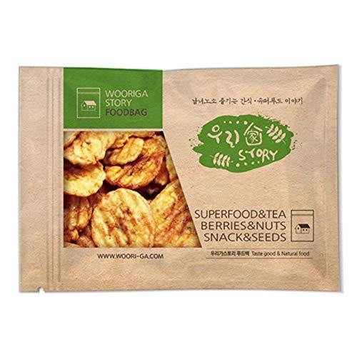 Wooriga Story Roasted Banana Chip | 900g | 1 Pack, Baked Banana Slices, Sweetened, Crispy, 바나나칩