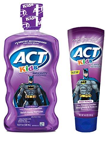 Batman Fruit Punch Mouthwash Toothpaste