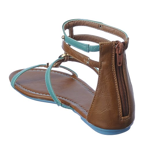 Bamboo Womens Pable-01 Sandal Turquoise 6sOw5LcFE