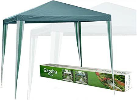 General trade gazebo poly 3x3 mt verde: Amazon.es: Hogar