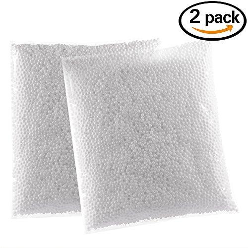 Zealor 2 Pack White Styrofoam Foam Balls 0.1-0.18 Inch for Slime Crafts Supplies (Approx 40000 Foam Balls)