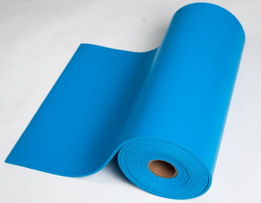 Bertech ESD Foam Mat Roll, 2' Wide x 10' Long x 0.375'' Thick, Blue, Made in USA