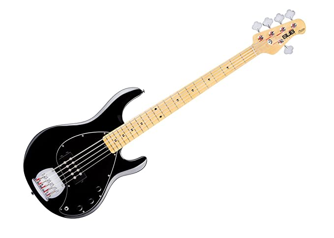 Sterling by Music Man StingRay Ray5 Bass Guitar in Black, 5-String
