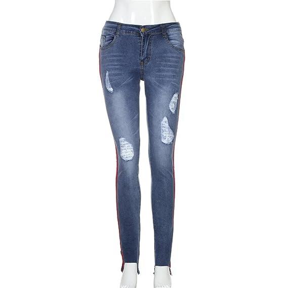 Amazon.com: Hattfart Sexy - Pantalones vaqueros de cintura ...