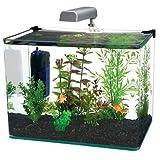 Penn-Plax Water World Radius Curved Corner Glass Aquarium Kit, 7.5-Gallon