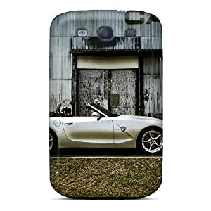 Protective Tpu Case With Fashion Design For Galaxy S3 (white Bmw Z4 Roadster Side View)