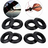 Vbestlife Kayak Paddle Drip Ring - Durable Universal Rubber Drip Rings for Kayak Canoe Rafting Paddles Shaft Black 8Pcs