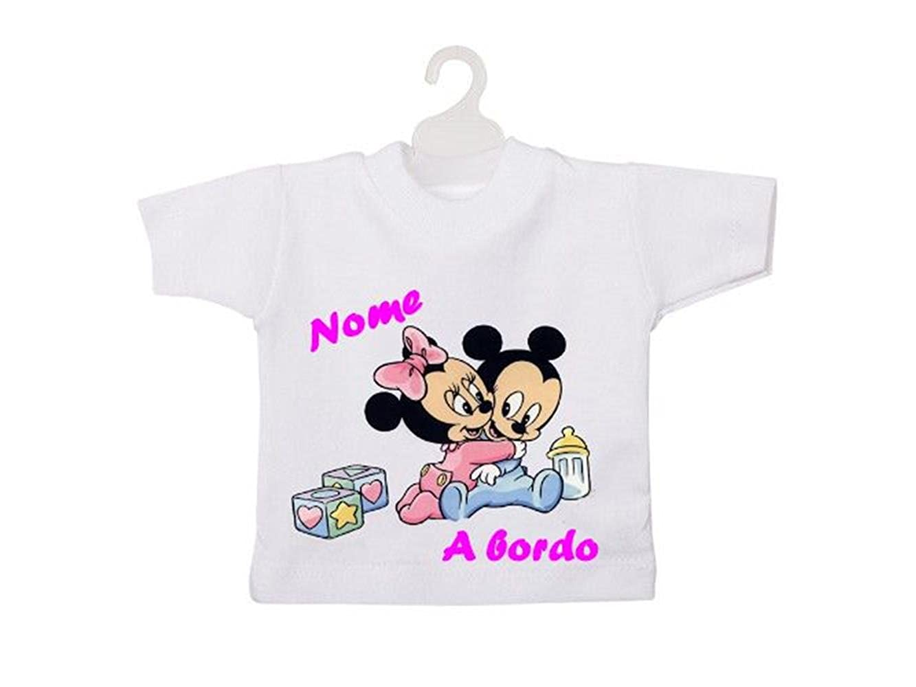 Mini camiseta beb/é a bordo Rosa