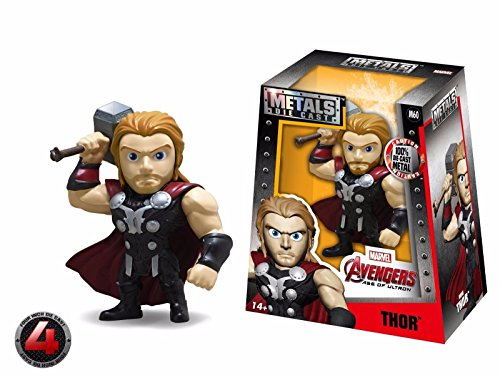 """NEW JADA AVENGERS: AGE OF ULTRON (2016) MOVIE - 4"""" Metal DieCast (Die-Cast) THOR Action Figures By Jada Toys"""