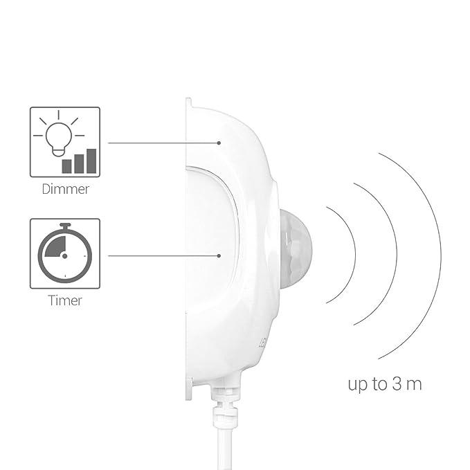 kwmobile Tira de luz LED RGB con sensor de movimiento - 1.5M con mando a distancia temporizador banda adhesiva y regulador de intensidad: Amazon.es: ...