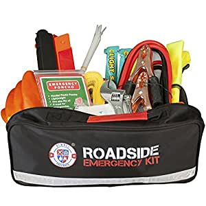 always prepared 65 piece roadside assistance auto emergency kit with jumper cables. Black Bedroom Furniture Sets. Home Design Ideas