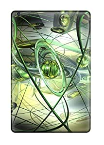 For Ipad Mini 3 Premium Tpu Case Cover Abstract Green Lines Protective Case 8589682K70632409
