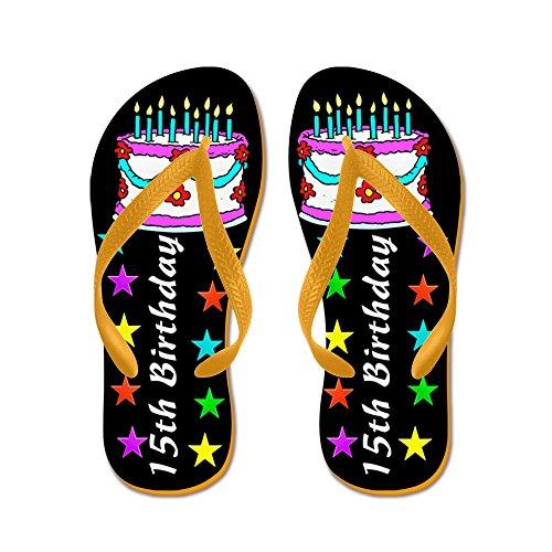 Ciabattina Dolce 15 ° - Infradito, Sandali Infradito Divertenti, Sandali Da Spiaggia Arancione