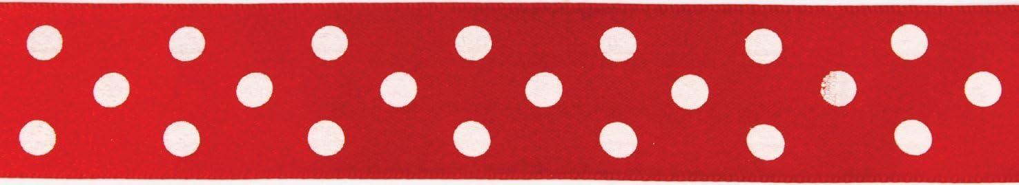 25mm x 1m Red Polka Dot Cake Ribbon