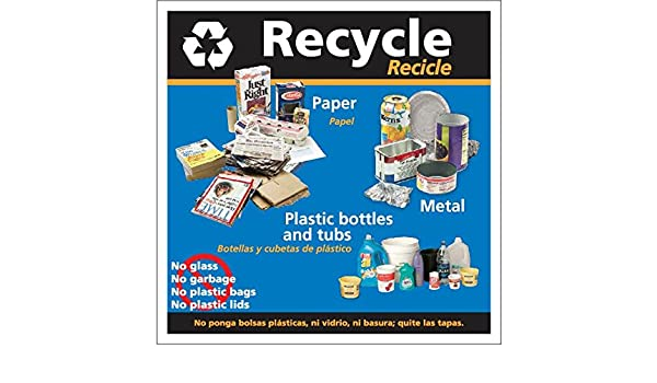 Amazon.com: Recycle/Recicle decal 8.5