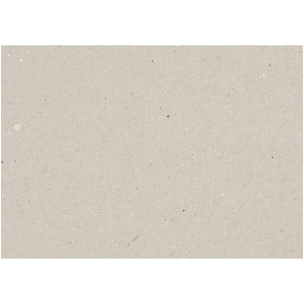 Creativ 21988 Tarjeta Kraft 25 x 35 cm, 1500 cm, 2 mm, 10 hojas, grosor 2 mm, color gris