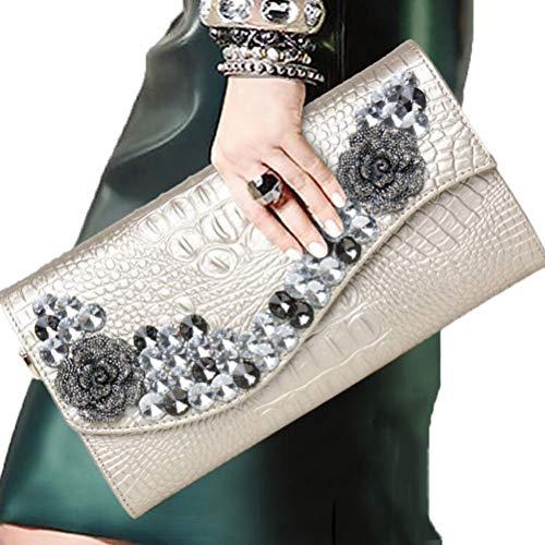 Gshe Bag Donna Pochette A Busta Pochette E Clutch Borsa Pochette Borse Da Sera Finto Diamante Scintillante,Gold Gold