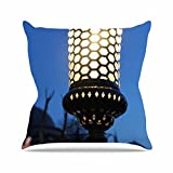 Kess InHouse Theresa Giolzetti The Light of the Roman Empire Black Gold Outdoor Throw Pillow, 18'' x 18''