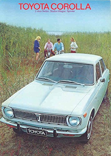 1970 Toyota Corolla & Wagon Sprinter Sales Brochure Sprinter Wagon