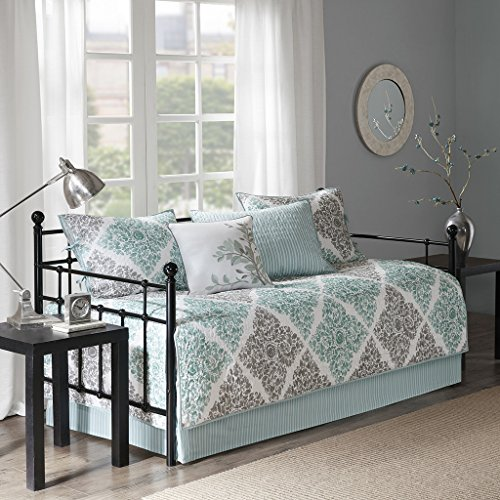 Claire 6 Piece Daybed Set Aqua Daybed (Daybed Pillow Sets)