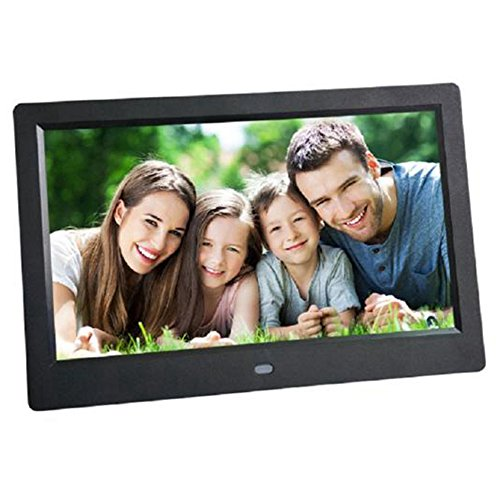 - Black Friday Celendi 10 Inch 1024x600 High Resolution Ultra-thin Digital Photo Frame with Auto On/Off Timer, MP3 and Video Player -Best Mother's Day Gift(Black)