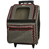 Petote Rio Pet Carrier Bag on Wheels, Rouge For Sale