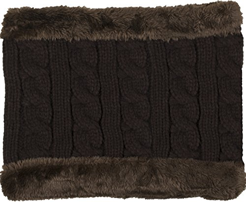 Dark Brown Face (True Gear North Multifunctional Nordic Warmer Neck Warmer, Face Warmer, Earmuffs, Hat (Dark Brown and Fuzzy Brown Trim))