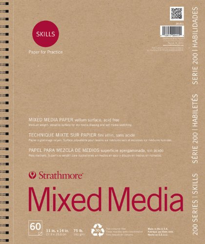 """Price comparison product image Strathmore STR-567-5 No.90 Mixed Media Softcover Art Journal,  5.5 by 8"""""""