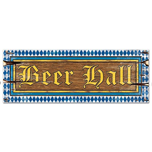 Beistle 54846 24-Pack Beer Hall Signs, 8 by 22-Inch