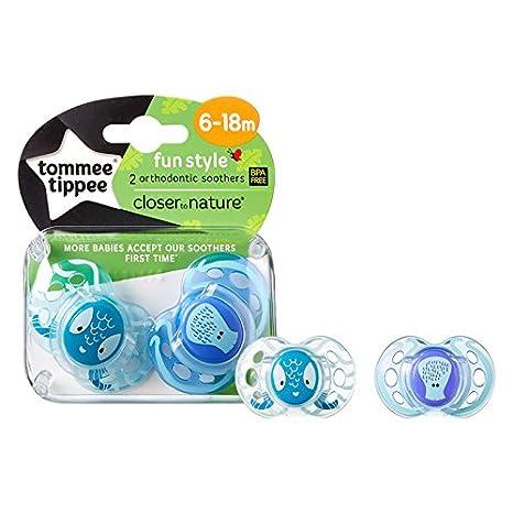 Tommee Tippee diversión estilo tetina silicona Chupetes 6 ...