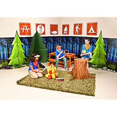 Inflatable Campfire (18 inches tall) Camping Prop, Great for Indoor Camping, Sleepovers and Scene Settings: Kitchen & Dining