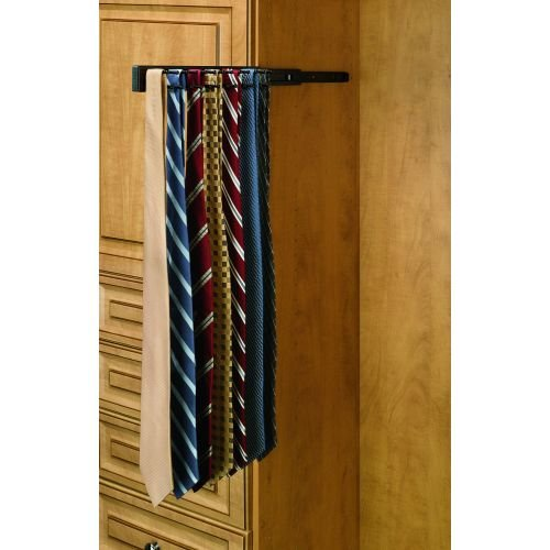 Rev-A-Shelf Pull-Out Side Mount Tie Rack Finish: Oil Rubbed Bronze by Rev-A-Shelf