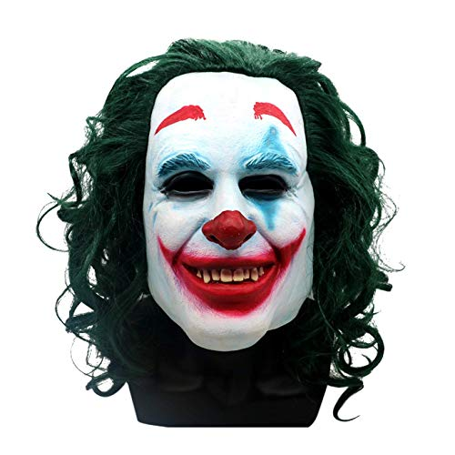 Halloween Creepy Costume Scary Pennywise Horror Clown Mask Latex Full Head Scary Joker Mask Green