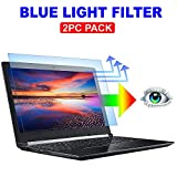 "2PC Pack 15.6 inch Blue Light Blocking Laptop Screen Protector, Blue Light Filter for Notebook Computer Screen 15.6"" Display 16:9"