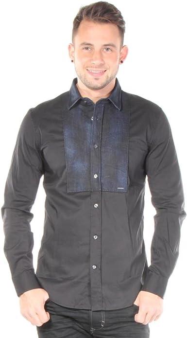 Diesel - Camisa de vestir - para hombre Negro negro Small: Amazon.es: Ropa y accesorios