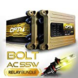 Bolt AC 55w Hi-Power HID Kit - All Bulb Sizes and Colors - Relay Capacitor Bundle - 2 Yr Warranty [9006 - 3000K Fog Yellow]