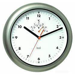BAI Aquamaster Weatherproof Wall Clock, Gunmetal