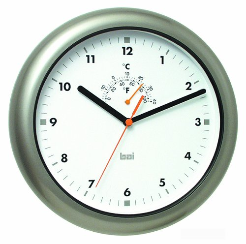Bai Aquamaster Weatherproof Wall Clock, Gunmetal (Weatherproof Clocks)