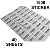 The Marketvilla 40-up 40 Sheets ( 1600 stickers ) FBA Products Labels A4 Size 4by10 Label For Fulfillment Services Seller