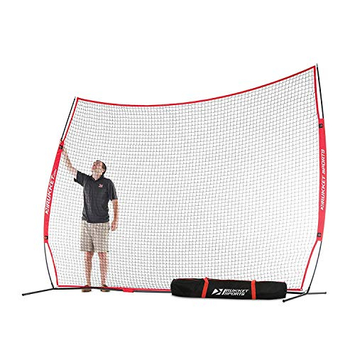 Rukket Barricade Backstop Net | Indoor and Outdoor Lacrosse, Basketball, Soccer, Field Hockey, Baseball, Softball Barrier Netting for Backyard, Park, and Residential Use (12x9ft)