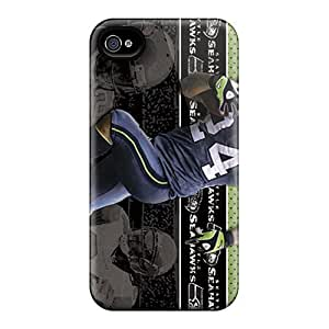 Fashionable Style Cases Covers Skin For Iphone 4/4s- Seattle Seahawks