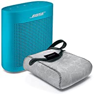 Bose SoundLink Color Bluetooth Speaker II - Aquatic Blue & Reversible Case - Bundle