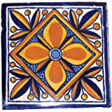 """12 Hand Painted Talavera Mexican Tiles 4""""x4"""""""