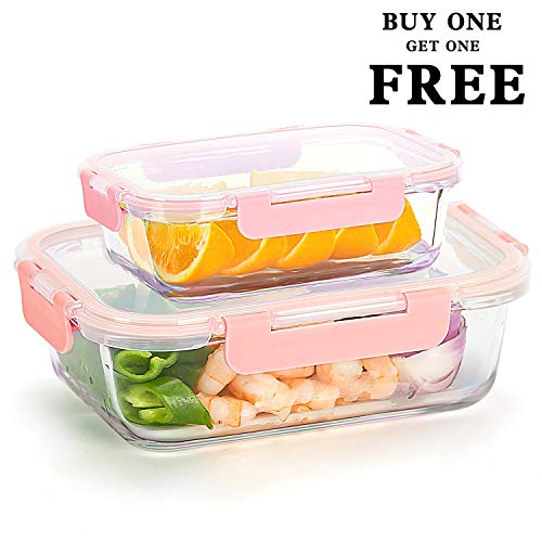 Glass Meal Prep Containers [34oz+12oz, Buy One Get for sale  Delivered anywhere in Canada